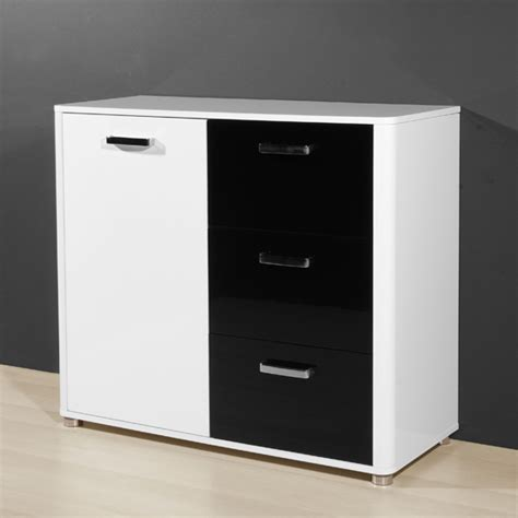 Black And White Sideboard by Dual High Gloss Sideboard In Black And White 18372