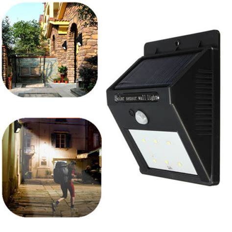 hot item 1pc 6led solar power pir motion sensor wall
