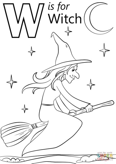 witch coloring page  printable coloring pages