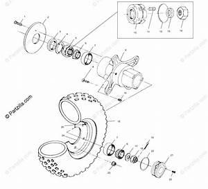 Polaris Atv 2000 Oem Parts Diagram For Front Wheel