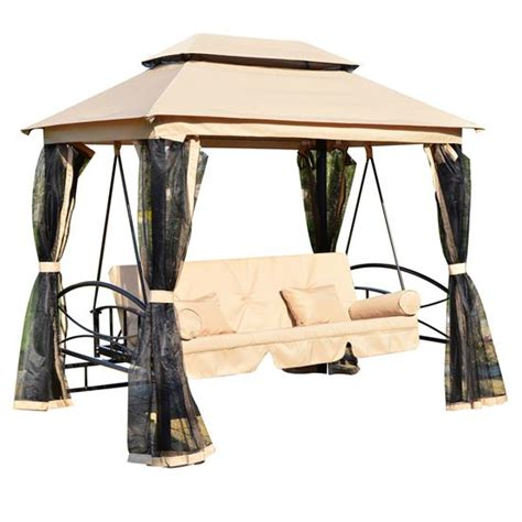 canap swing 3 person patio daybed canopy gazebo swing