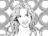 Britney Colorir Desenhar Promote sketch template
