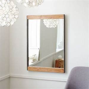 metal wood wall mirror west elm australia With wall mirror decor