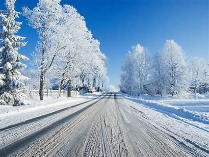 Winter Snow Break Tlg Wallp Snowy Road