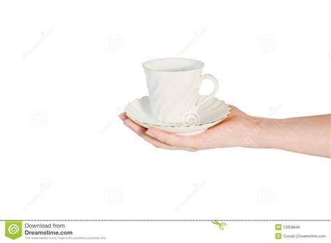 Hand Holding Coffee Cup Royalty Free Stock Photos   Image: 13308848