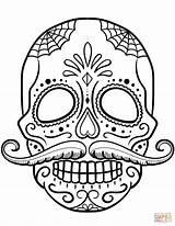 Skull Sugar sketch template