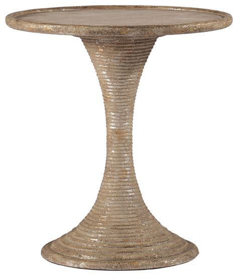 silver leaf accent table gloria antique gold and silver leaf hour glass end table