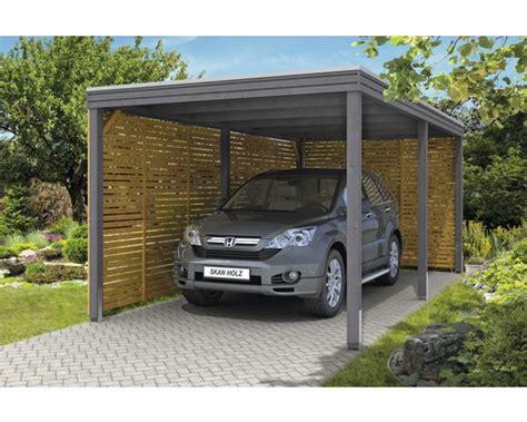 Einzelcarport Skan Holz Cubusform Mit Seiten Und