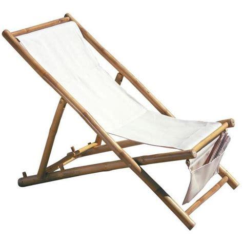chaise pliable pas cher chaise longue de jardin pliable en bambou dim h 100 x