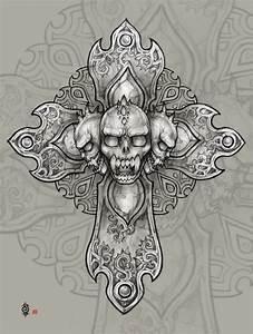 Demon's skull cross by AngELofREbellion on DeviantArt