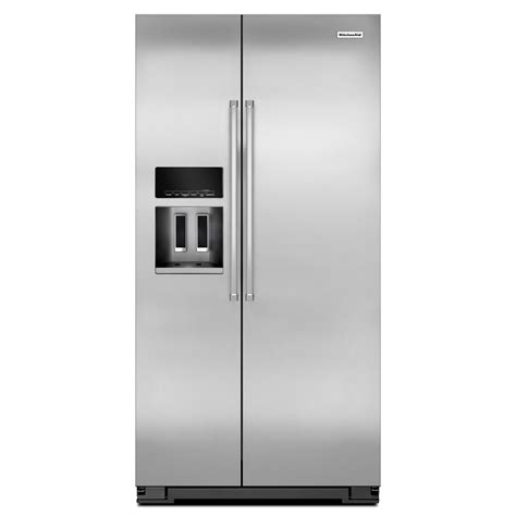 Counter Depth Refrigerator Dimensions Sears by Kitchenaid Krsc503ess 22 7 Cu Ft Counter Depth Side