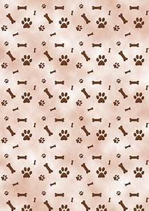 Brown Paw Prints & Bones Dog Background - CUP52232_172 ...