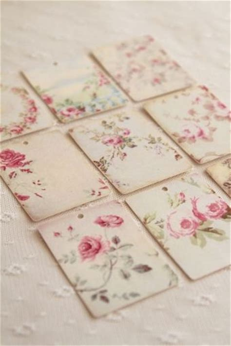 shabby chic tiles shabby chic tile декупаж pinterest gift tags inspiration and hand painted