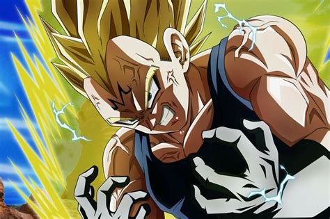 dragon ball superz poster majin vegeta evil inxin