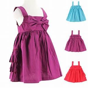 Girls dresses new fashion 2016 summer baby dress Bow ...