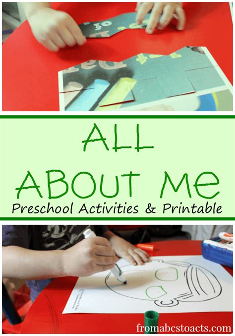 all about me preschool activities from abcs to acts 150 | Preschool Activities and Printable for All About Me Theme