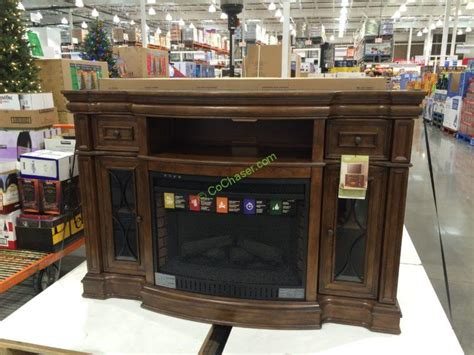 bayside furnishings electric fireplace  media console