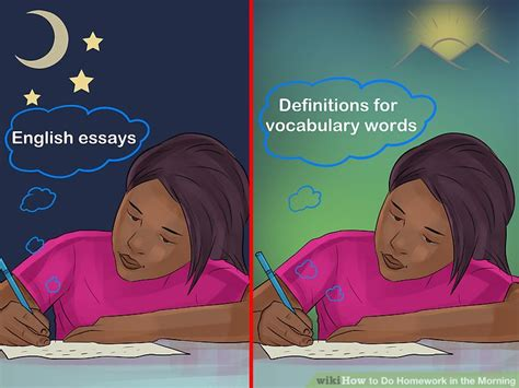 Do All Homework by How To Do Homework In The Morning 13 Steps With Pictures