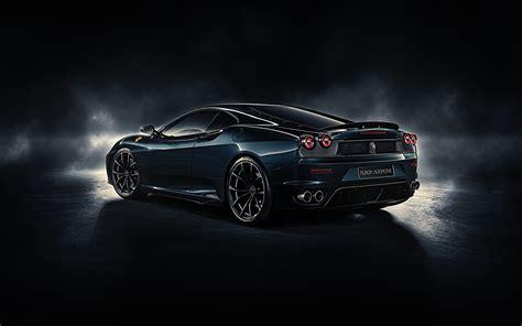Hintergrundbilder Ferrari F430, Midnight Black Autos Hinten