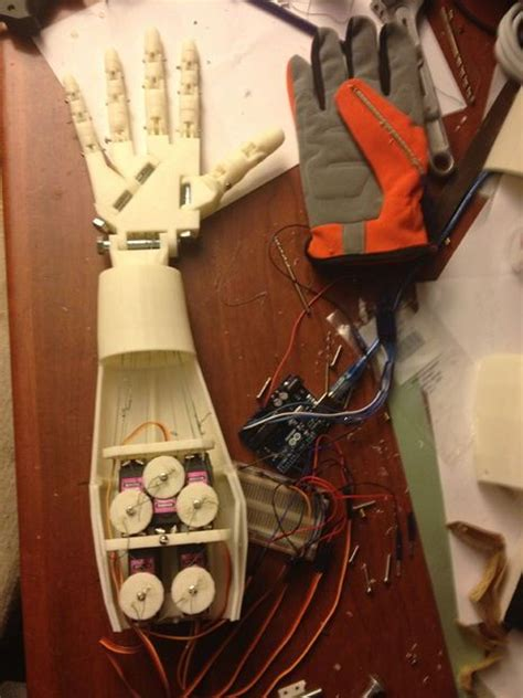 diy robotic hand controlled   glove  arduino geek