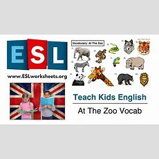 Esl Animals Worksheet (at The Zoo Vocabulary) Youtube