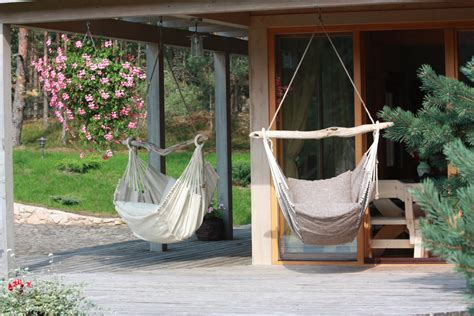 traditional patio and terrace with diy hammock chair stand