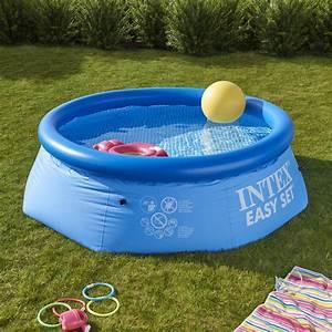 piscine hors sol autoportante gonflable easy set intex With produit hivernage piscine leroy merlin