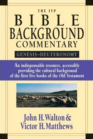 ivp bible background commentary genesis deuteronomy