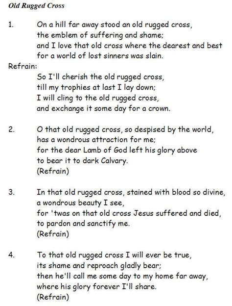 To The Rugged Cross Lyrics rugged cross easy blue grass banjo