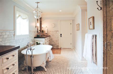 claw foot tub transitional bathroom opal design group