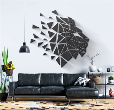 Olx pakistan offers online local classified ads for home decoration. Geometric Lion Head 3D Wall Art - Moonwallstickers.com