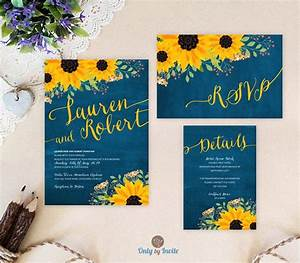 sunflower wedding invitation packages invites rsvp With sunflower wedding invitations with rsvp