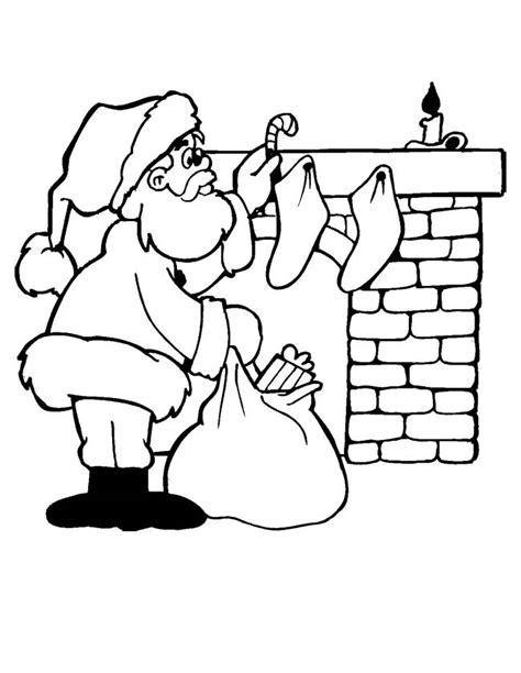 Kleurplaat Open Haard Schoorsteen kleuren nu kerstman bij de open haard kleurplaten