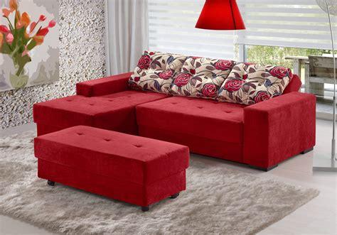 sofa de canto puff vermelho fa 231 a a melhor escolha do seu sof 225 de canto para sala