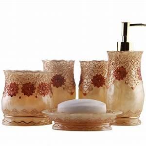 aliexpresscom buy luxury royal floral lace bathroom With flower bathroom sets