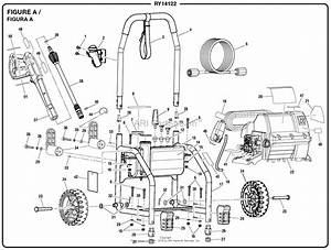 Homelite Ry14122 Pressure Washer Parts Diagram For Figure A