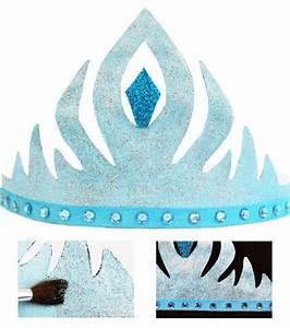 Couronne En Papier à Imprimer : fabriquer une couronne elsa en papier reine des neiges pinterest elsa couronnes et ~ Melissatoandfro.com Idées de Décoration