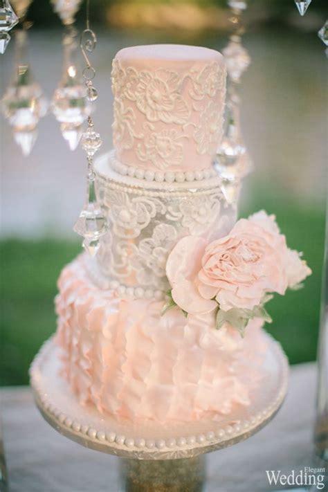 Wedding Cake Peach Color Flower Photography Tiffany