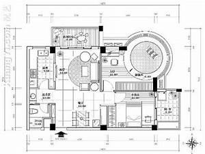 [平面图]室内设计cad平面图(51)