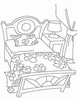 Coloring Bed Pages Sheet Bedroom Bunk Printable Template Getcolorings Popular Coloringhome sketch template