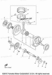 Yamaha Motorcycle 2015 Oem Parts Diagram For Crankshaft