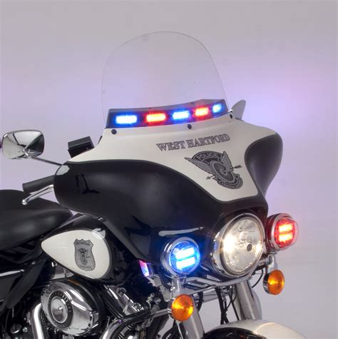police motorcycle safety lights leds whelen police motorcycle windshield linz6 led lights road