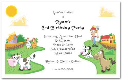 farmer   dell invitations farm animals birthday