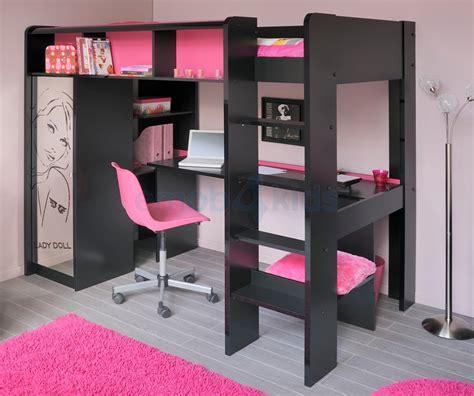 bureau pour lit déco chambre fille 10 ans