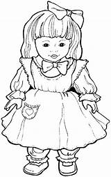 Coloring Dolls Pages Doll Coloriage Printable Jouets Printables sketch template