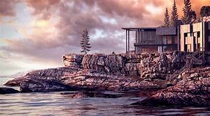 """Making of 3D render GH House """"Norwegian lake shore"""" by ..."""