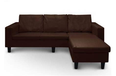 canapé et pouf assorti canapé d 39 angle convertible avec coffre pouf assorti marron