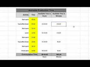 How To Calculate Available Production Time? (+ Free Excel
