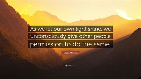nelson mandela quote      light shine