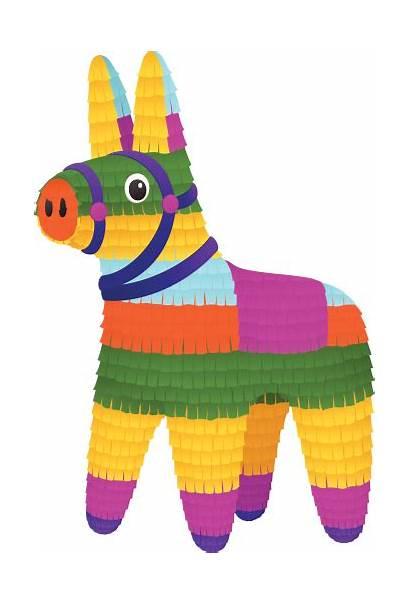 Pinata Donkey Clipart Vector Clip Mexican Illustration